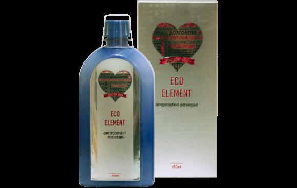 Продукт для здоровья и активного долголетия Энтеросорбент Eco-Element, 600 ml